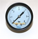"Stål Manometer 1/4"" Ø63 0 - 0,6 Bar MS bagud"